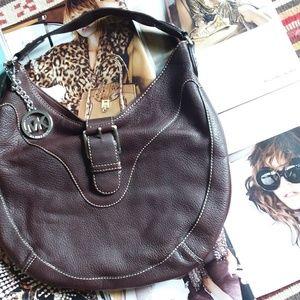 Michael  Kors  Leather  Hobo Bag